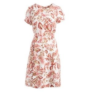 NWT Shelby Palmer Ivory & Red Floral A-Line Dress